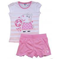 Tričko a kraťasy Peppa Pig , Velikost - 128 , Barva - Ružovo-biela