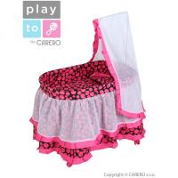 Košík pre bábiky PlayTo Nikolka , Barva - Ružová