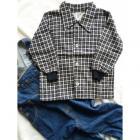 Košeľa Tomino flanelová , Velikost - 80 , Barva - Černo-bílá