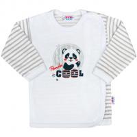 Košieľka New Baby Panda , Velikost - 62 , Barva - Šedá