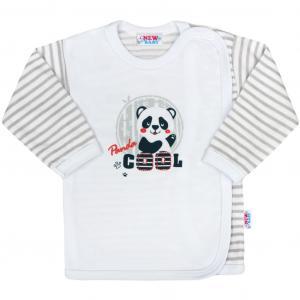 Košieľka New Baby Panda , Barva - Šedá