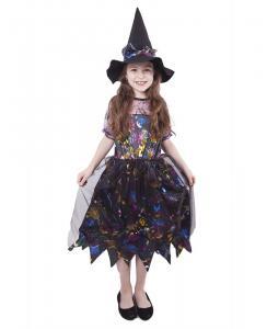 Kostým Čarodejnica farebná , Barva - Čierna