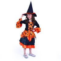 Kostým Čarodějnice/Halloween , Velikost - M , Barva - Oranžová