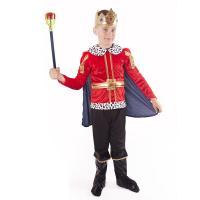 Kostým Král , Velikost - M , Barva - Černo-červená