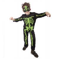 Kostým Neonový kostlivec , Velikost - M , Barva - Černo-zelená