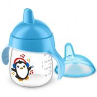 Kúzelný hrnček Avent Premium Pingu , Velikost lahve - 260 ml , Barva - Modrá