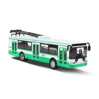 Kovový trolejbus zelený, 16 cm , Barva - Zeleno-bílá