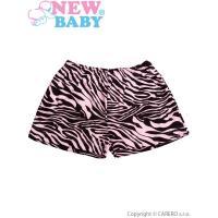 Kraťasy Zebra , Velikost - 104 , Barva - Ružová