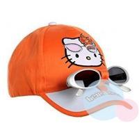 Kšiltovka a brýle Hello Kitty , Barva - Oranžová , Velikost čepice - 54