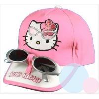 Kšiltovka a brýle Hello Kitty , Velikost čepice - 52 , Barva - Ružová