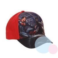 ŠILTOVKA BATMAN vs. SUPERMAN , Barva - Červená , Velikost čepice - 52