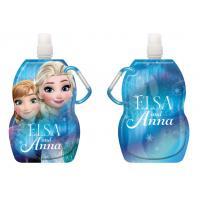 Fľaša na pitie s karabínou Ľadové Kráľovstvo , Barva - Modrá , Velikost lahve - 330 ml
