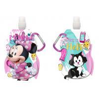 Fľaša na pitie s karabínou Minnie hearts , Barva - Ružová , Velikost lahve - 330 ml
