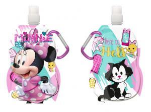 Fľaša na pitie s karabínou Minnie hearts , Velikost lahve - 330 ml , Barva - Ružová