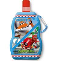 Fľaša s karabínou Planes , Barva - Modrá , Velikost lahve - 330 ml