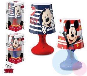 Lampička Mickey LED , Barva - Červená