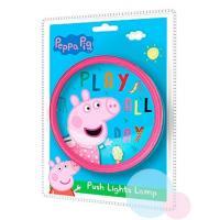 Lampička PEPPA PIG push , Barva - Modro-růžová