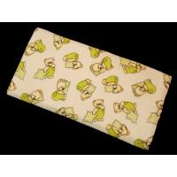 Látková plienka Méďa , Barva - Biela , Rozměr textilu - 70x70