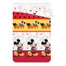Letná prešívaná deka Mickey , Barva - Červená , Rozměr textilu - 180x260