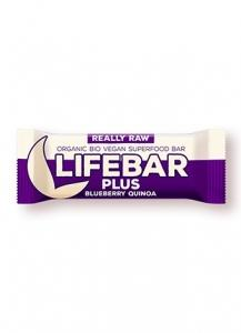 Lifebar Plus čučoriedková s quinoou BIO , Velikost balení - 47g