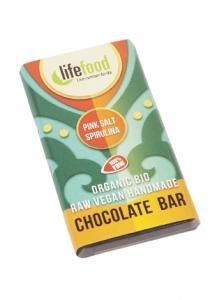 Lifefood Mini čokoládka slaná se spirulinou BIO , Velikost balení - 15g