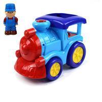 Lokomotiva s panáčkem, zvuk, světlo , Barva - Modrá