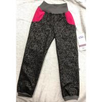 Luxusní softshell kalhoty s fleecem , Velikost - 98 , Barva - Tmavo šedá