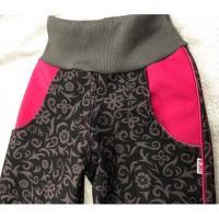 Luxusní softshellové kalhoty s fleecem , Velikost - 134 , Barva - Tmavo šedá