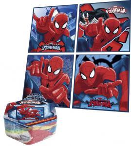 Magický uteráčik Spiderman , Barva - Modrá , Rozměr textilu - 30x30