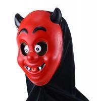 Maska čert s šátkem , Barva - Červená