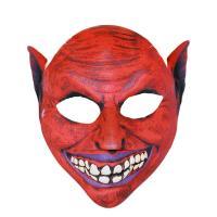 Maska čert textilní , Barva - Červená