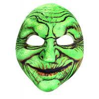 Maska karnevalová čarodejnice , Barva - Zelená