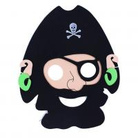 Maska pirátska 2 ks , Barva - Čierna