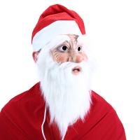 Maska Santa Claus s čiapkou a fúzy , Barva - Červená