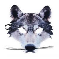 Maska vlk s fúzy , Barva - Šedá