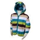 Microfleecová mikina s kapucňou , Barva - Modro-zelená , Velikost - 74