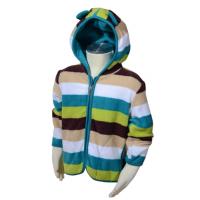 Microfleecová mikina s kapucňou , Barva - Modro-zelená , Velikost - 86