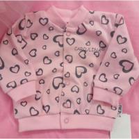 Mikina Srdce , Velikost - 92 , Barva - Svetlo ružová
