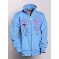 Mikina Sweet Flowers , Velikost - 140 , Barva - Světlo modrá