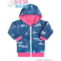 Mikinka s kapucňou Light Jeans baby , Velikost - 68 , Barva - Růžovo-modrá