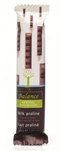 Mliečna čokoláda praliné zo stévií Balance , Velikost balení - 35g
