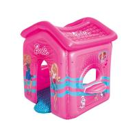 Nafukovací domeček Bestway Barbie , Barva - Ružová