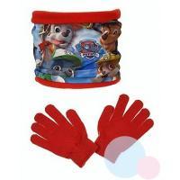 Nákrčník a rukavice Paw Patrol , Barva - Červená