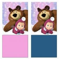 Nákrčník Máša a Medveď , Barva - Ružová