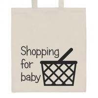 Nákupná taška prírodné Shopping for baby , Barva - Béžová