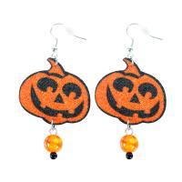 Náušnice Halloween dýně , Barva - Oranžová