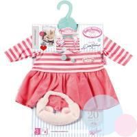 Oblečení pro panenku Baby Anabell , Barva - Malinová