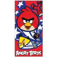 Osuška Angry Birds , Barva - Červená , Rozměr textilu - 70x140