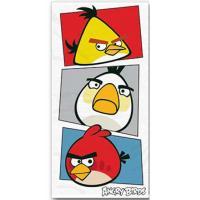 Osuška Angry Birds , Barva - Biela , Rozměr textilu - 70x140