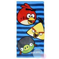 Osuška Angry Birds , Barva - Modrá , Velikost - 70x140cm
